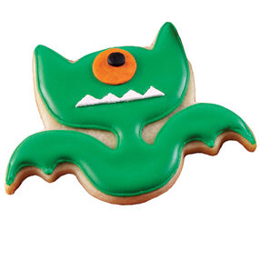 One-Eyed Green Bat Cookie
