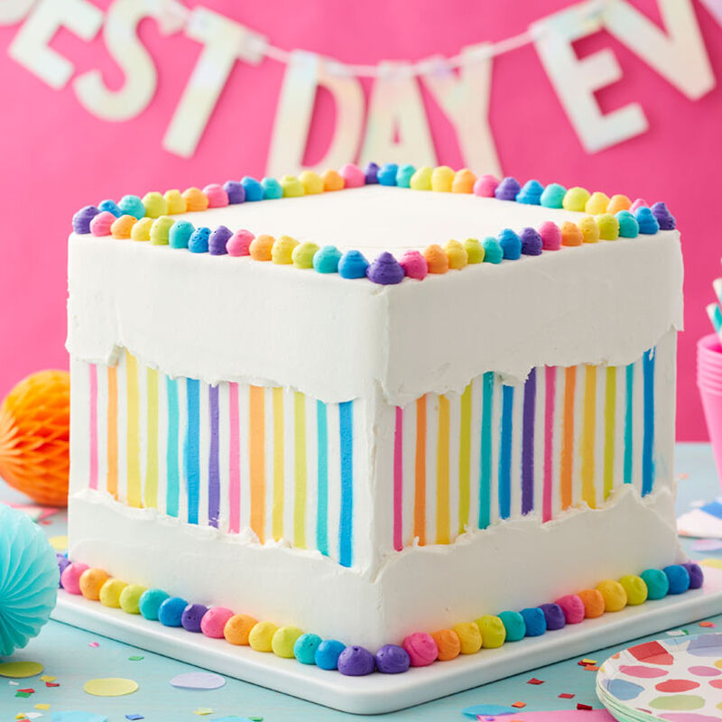 How to Make a Rainbow Faultline Cake