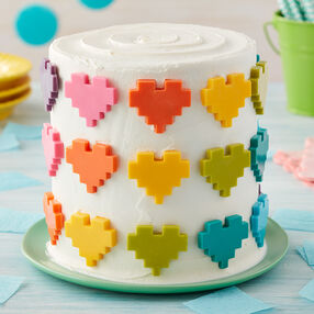 Rosanna Pansino Hearts Full of Color Cake
