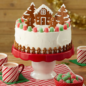 jolly gingerbread christmas cake