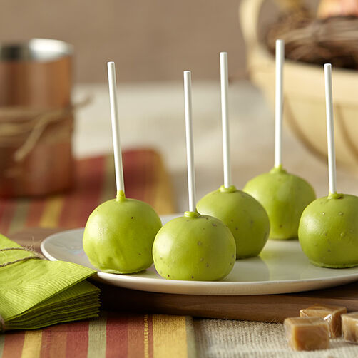 Caramel Apple Cake Ball Pops