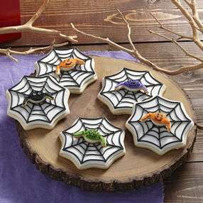 Spider Cookies with Wicked Webs
