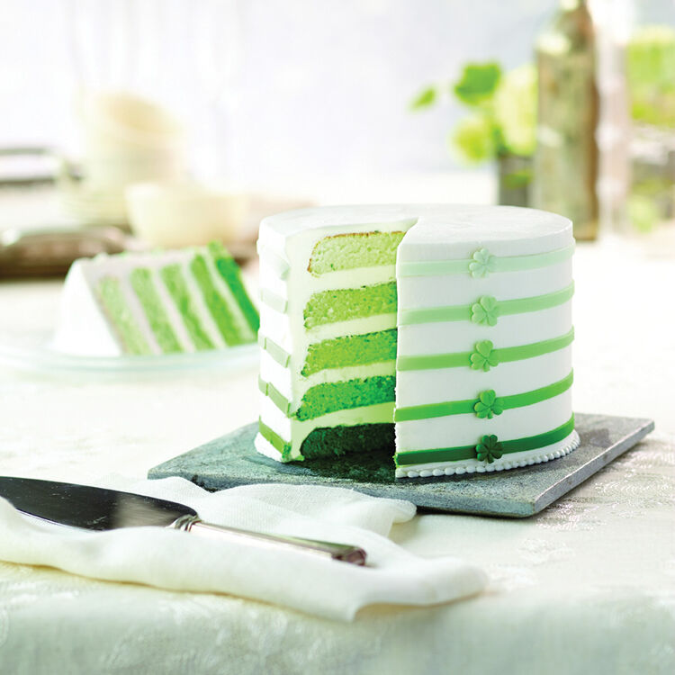 St. Patrick?s Day Ombre 5-Layer Cake