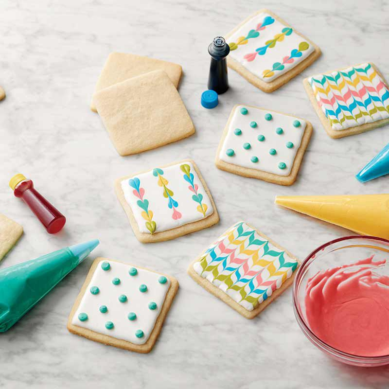 Cookies with Royal Icing zig zags, hearts and dots image number 0