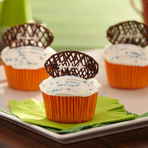 Candy Football Cupcakes