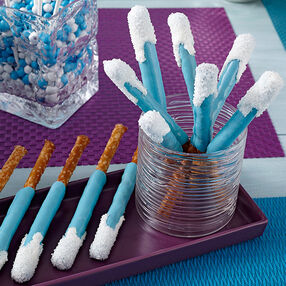 Celebrate Frozen With Candy-Dipped Pretzels