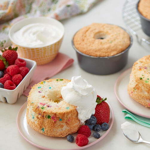 Mini Confetti Angel Food Cakes Recipe