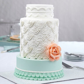 Giant Rose Cake With Scallops