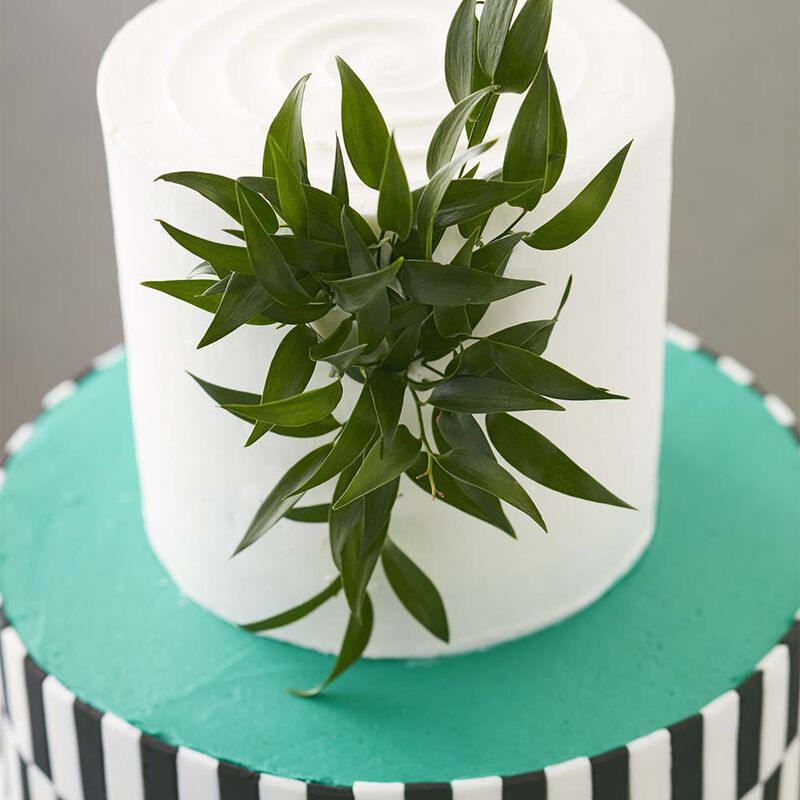 Black White and Teal All Over Cake image number 1