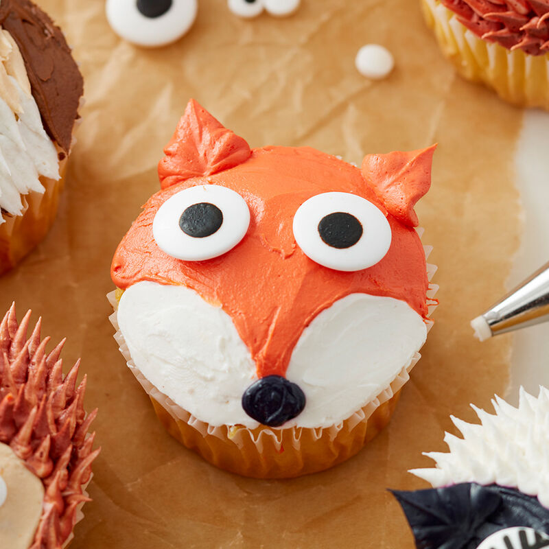 Cute Woodland Creature Cupcakes - Fox Cupcake image number 1