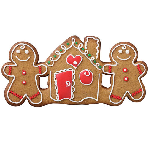 The House That Love Built Gingerbread Trio Cookie
