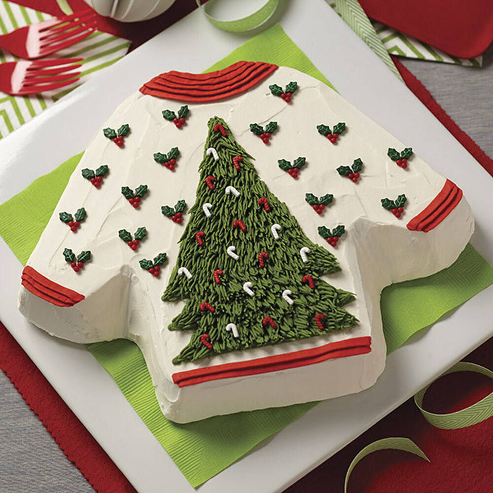 Eggnog Ugly Sweater Holiday Cake Wilton