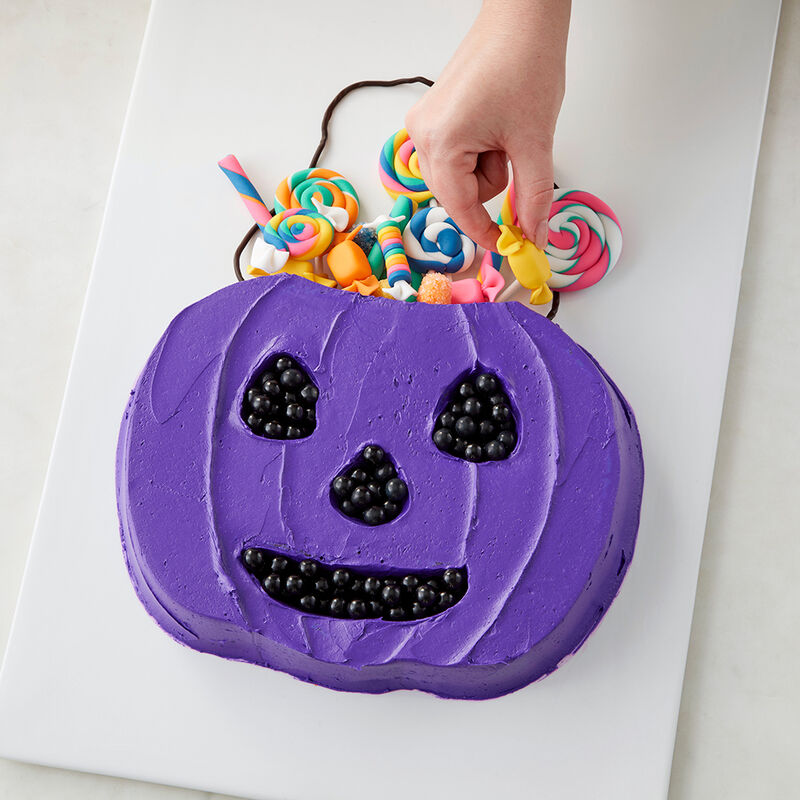 Trick-Or-Treat Candy Bucket Cake image number 1