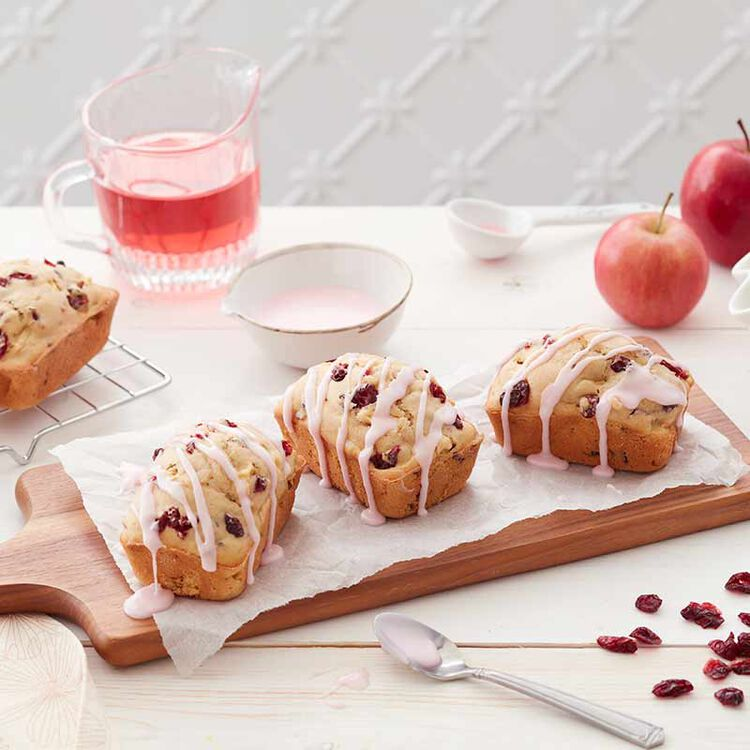 apple cranberry loaves
