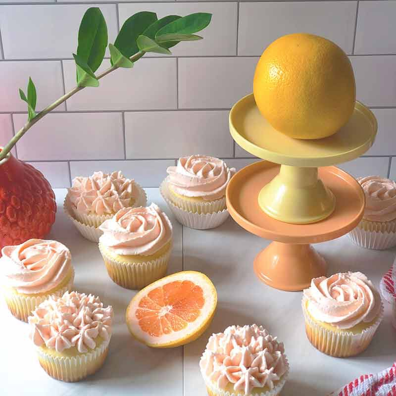 paloma flavored cupcakes and buttercream frosting image number 1