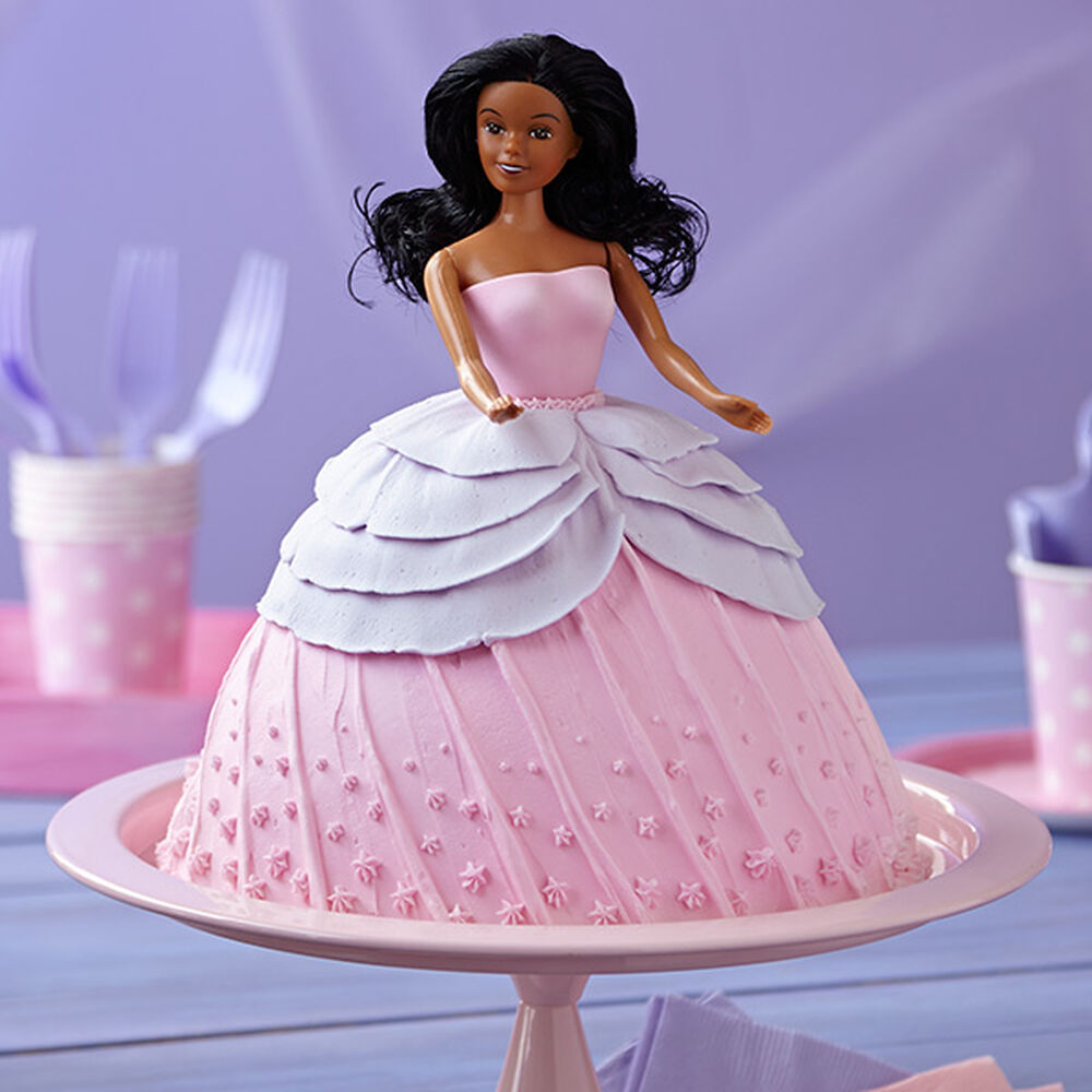 barbie doll cake doll in pink dress cake wilton 1499
