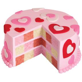 Hearts Abound Checkerboard Cake