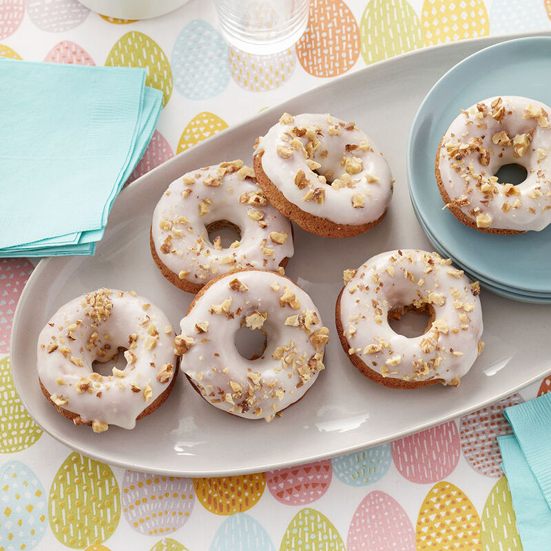 Carrot Cake Donuts with Cream Cheese Glaze Recipe image number 0