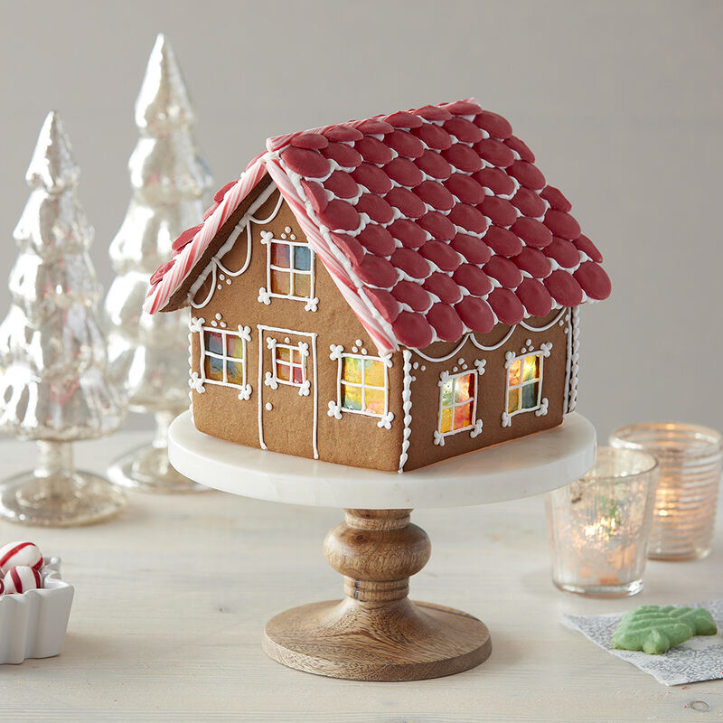 Candy Stained Glass Windows Gingerbread House image number 0