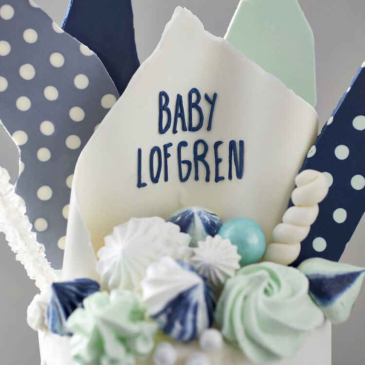 Hues of Blues Baby Shower Cake