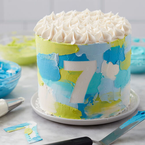 Painted in a Snap Cake   Wilton