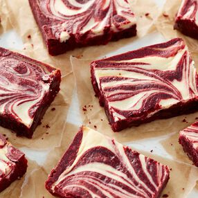Red Velvet Brownies with a Cheesecake Swirl Recipe