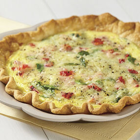 Spinach and Roasted Red Pepper Quiche