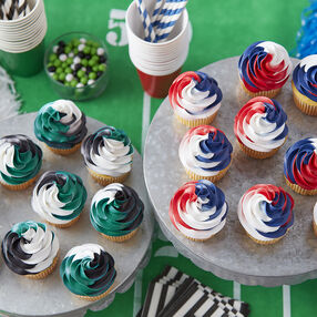 Wilton Team Spirit Color Swirl Cupcakes