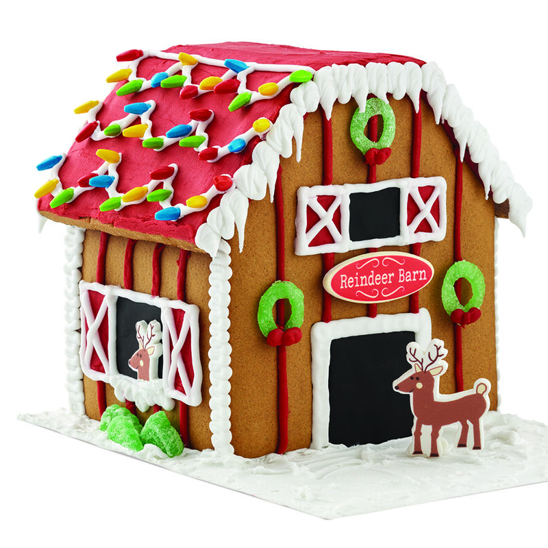 Santa's Reindeer Barn Gingerbread House image number 1