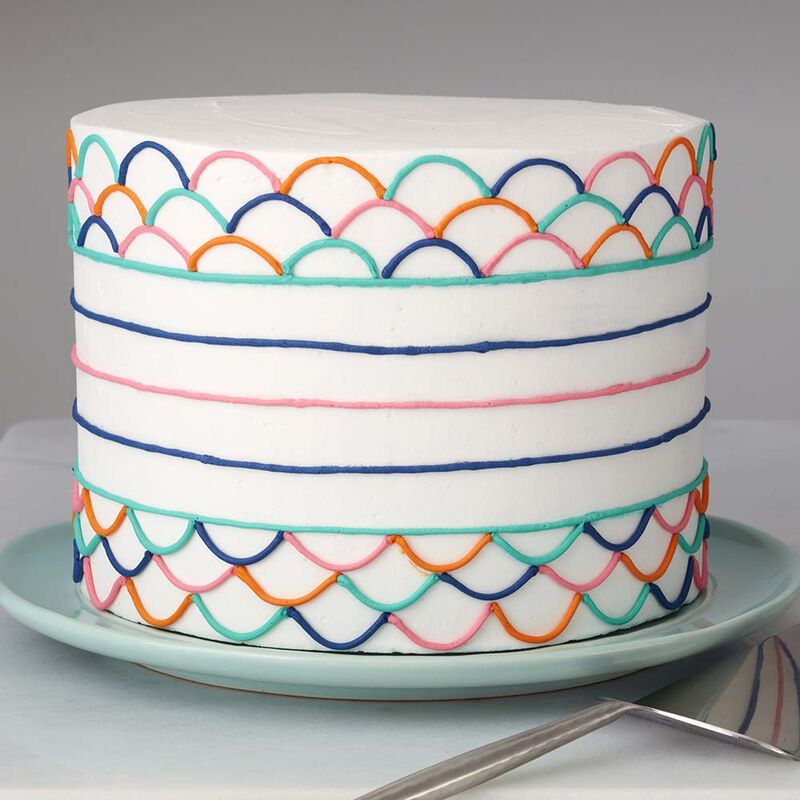 Wilton Colorfully Simple Cake image number 0