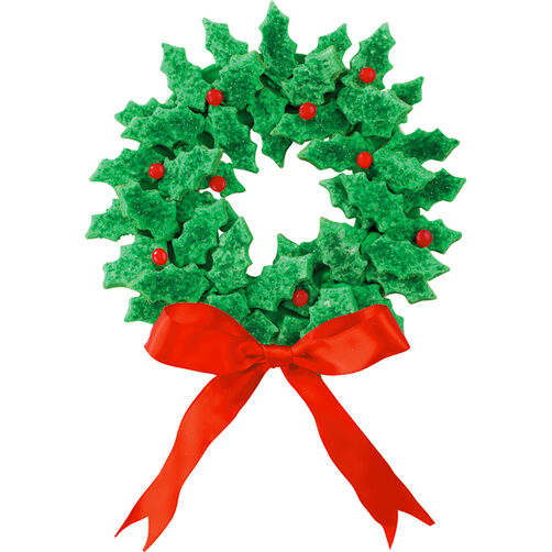 Wreaths Of Holly Cookies Wilton