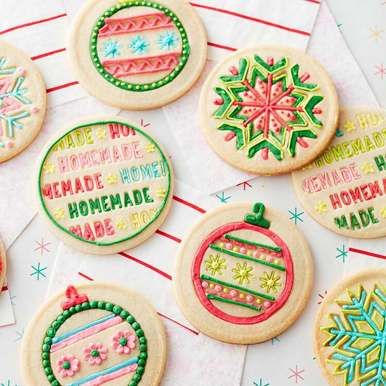 Decorated Stamped Cookies Recipe