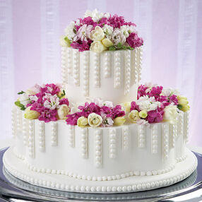Dripping with Pearls Cake
