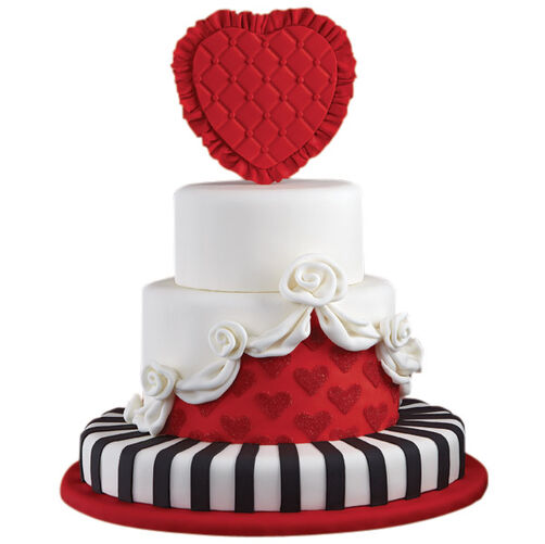 Queen of Hearts Valentine's Day Cake
