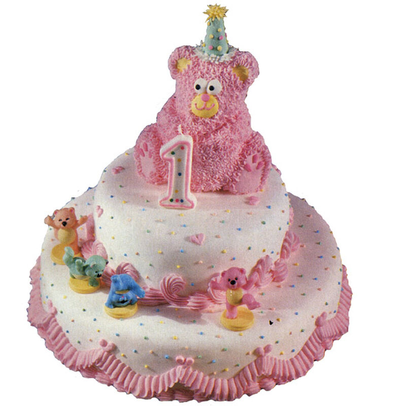 Teddy Bear First Birthday Cake image number 0