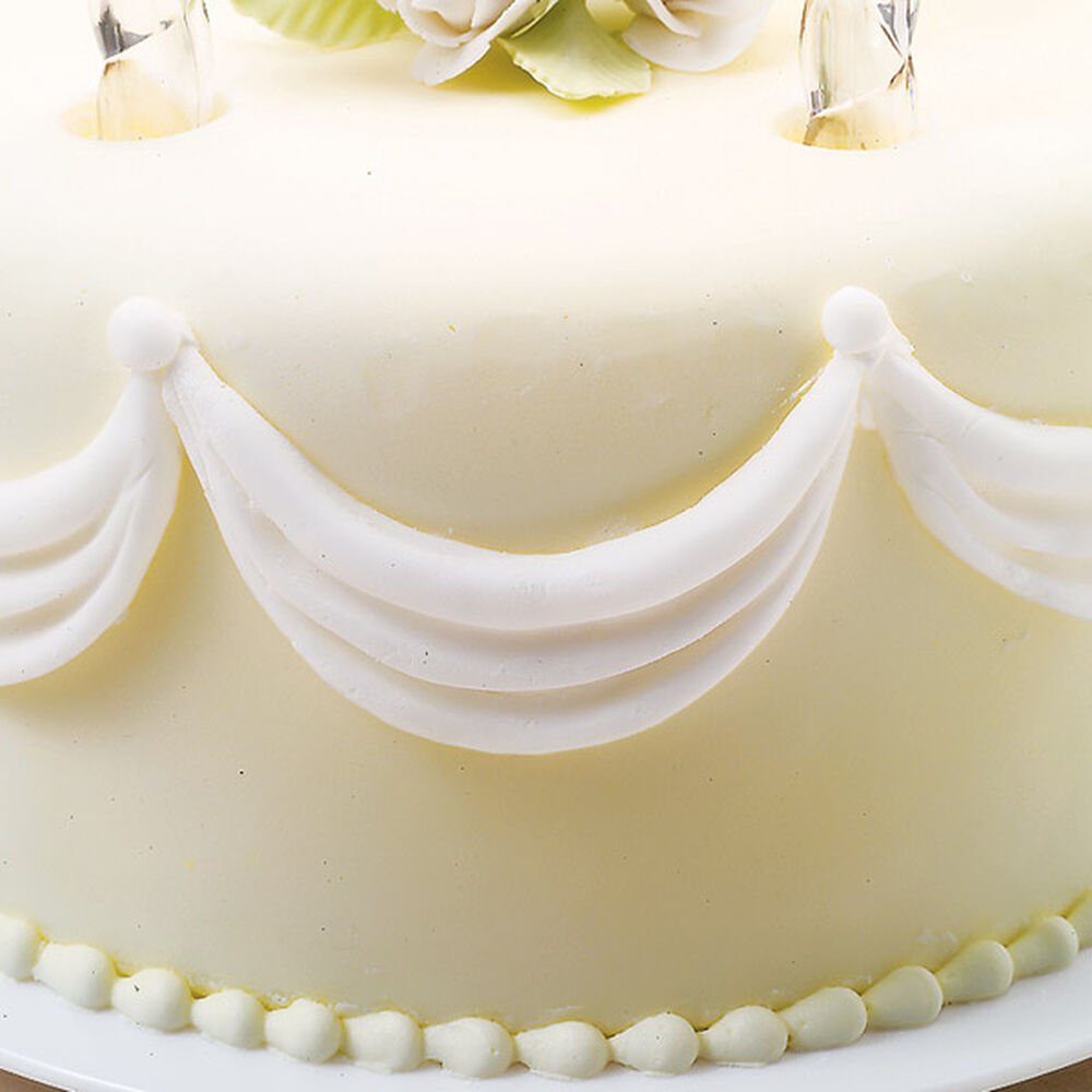 how to make a wedding cake out of cupcakes fondant draping wilton 15896