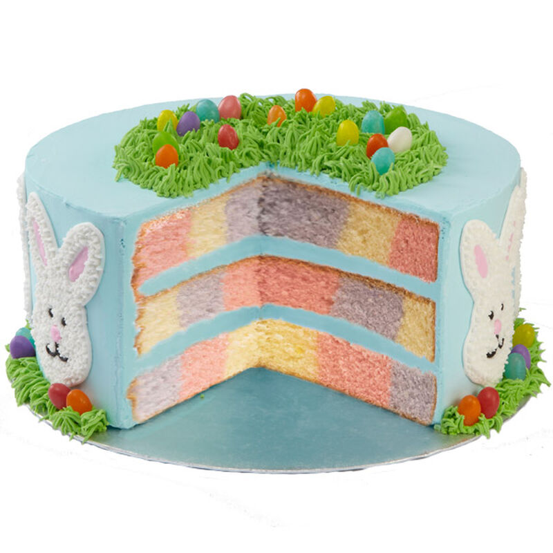 Easter Bunny Checkerboard Cake image number 0