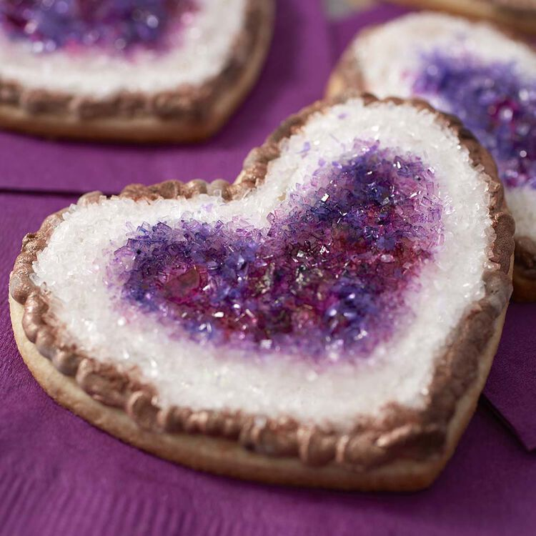 Sparkling Purple Geode Cookies