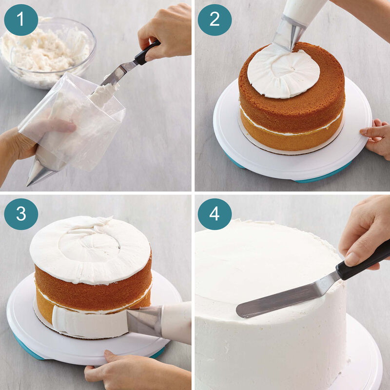 How to Ice a Cake with Tip #789 - How to Frost a Cake image number 1