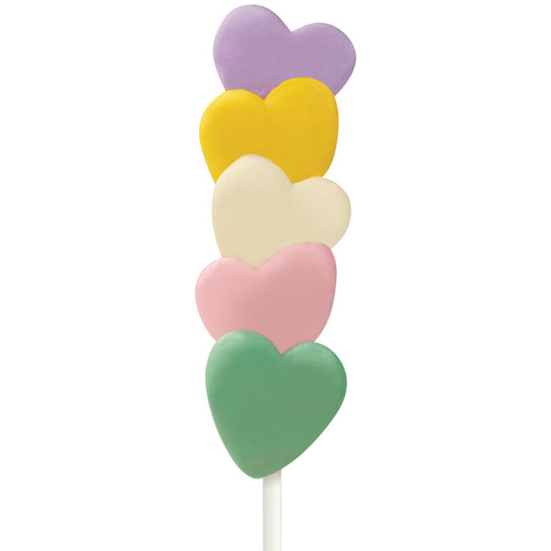 Pastel Hearts Cake on a Stick image number 0