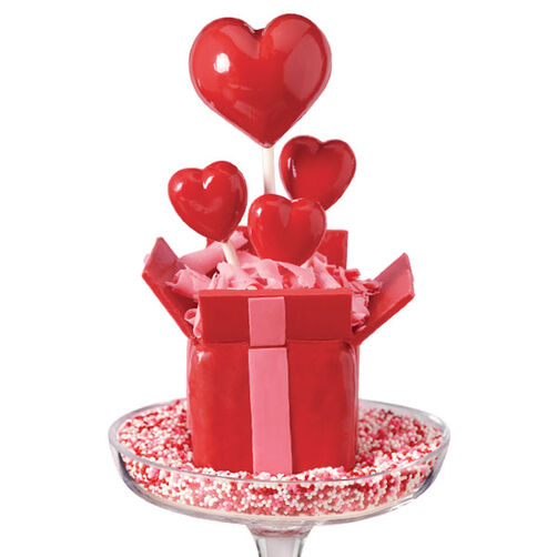 Gift of Love Valentine's Day Cake