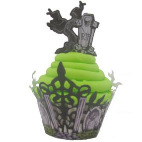 Wrapped in Haunted Wonder Cupcake