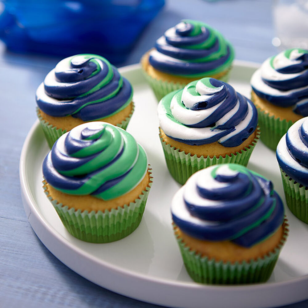 Color Swirl Spring Cupcakes Wilton