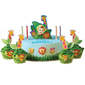 Jammin' in the Jungle Cake and Cupcakes