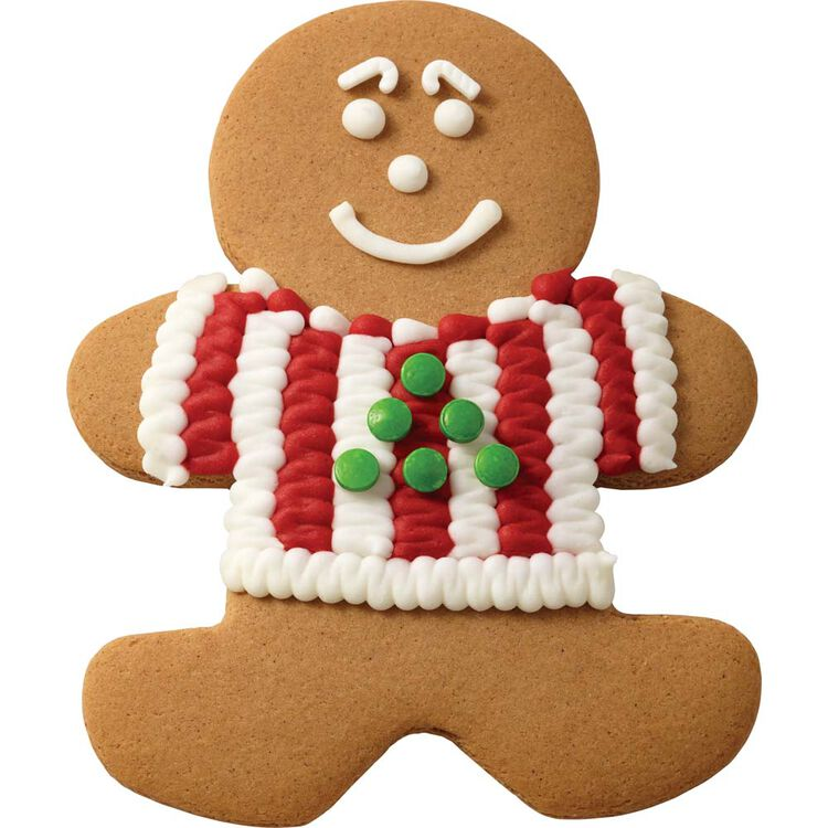 Gingerbread Boy with Tree Sweater