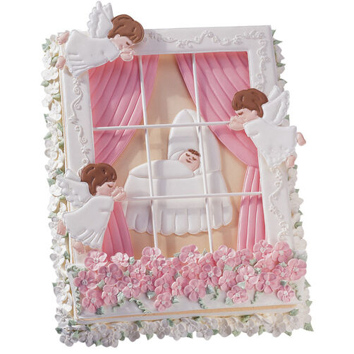 Angels Watching Over Baby Cake