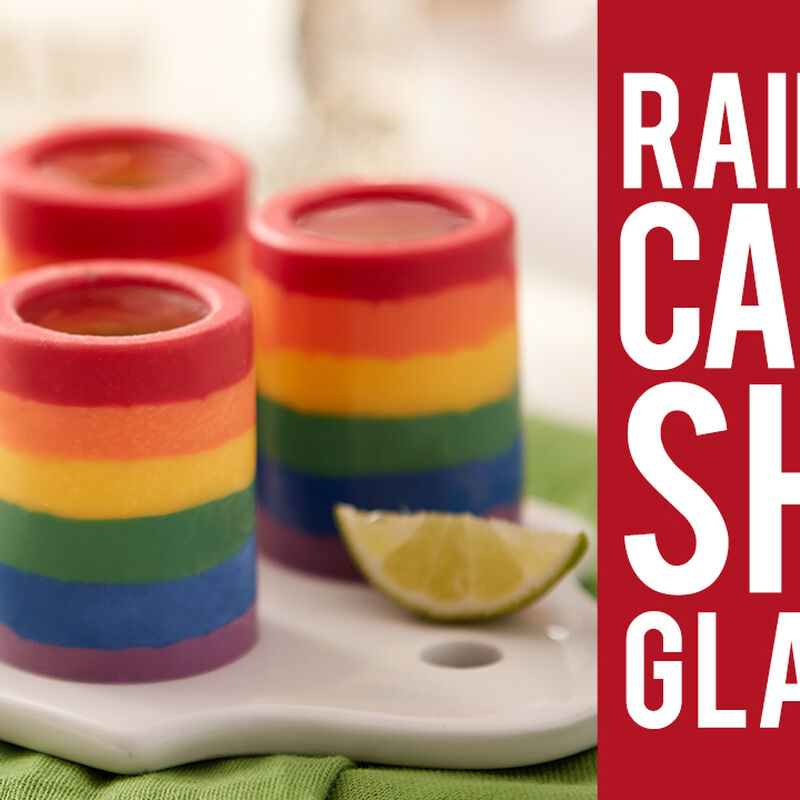 Rainbow Candy Shot Glasses