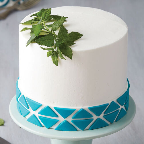 Teal Triangle Cake