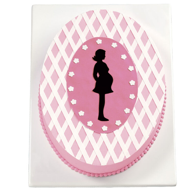 Silhouette Baby Shower Cake