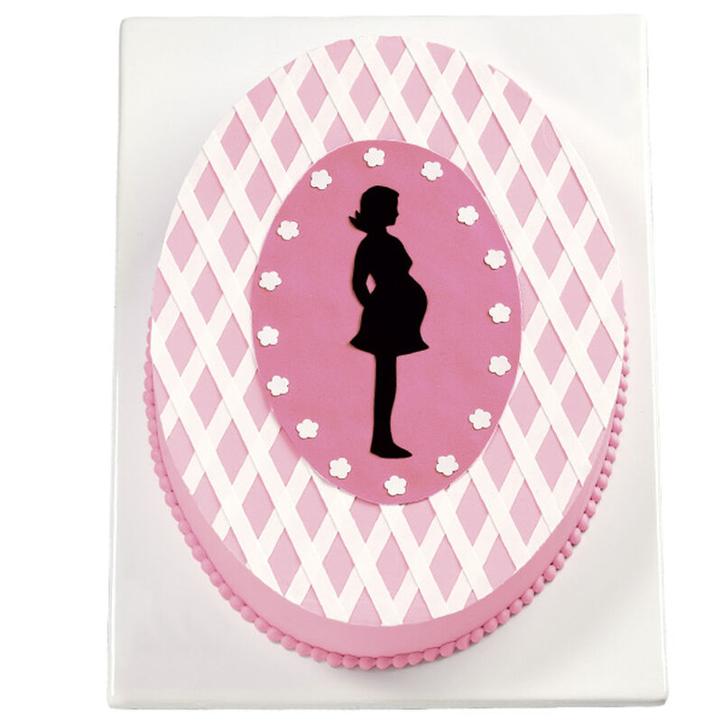 Silhouette Baby Shower Cake image number 0